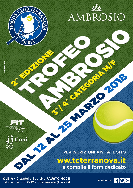 Trofeo Ambrosio 2^ Edizione – Torneo Di 3^ – 4^ CAT. M. e F. dal 12 al 25 Marzo 2018