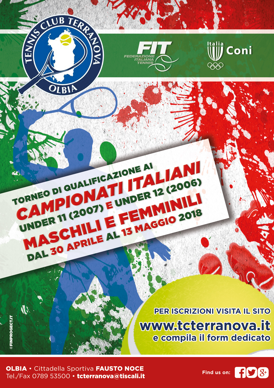 Tabelloni Finali – Campionati Italiani U11 (2007) e U12 (2006) Maschili e Femminili