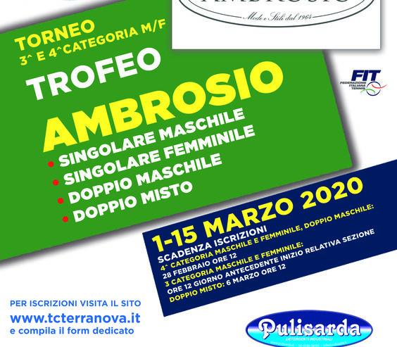 FINALE -Trofeo Ambrosio-Torneo di 3^ e 4^ cat Maschile e Femminile
