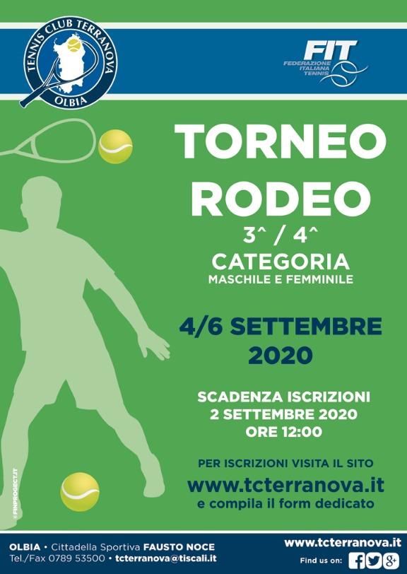 SAR – Torneo Rodeo 3^ – 4^ Categoria M/F 4-6 Settembre 2020