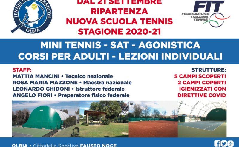Riapertura Scuola Tennis 2020-2021