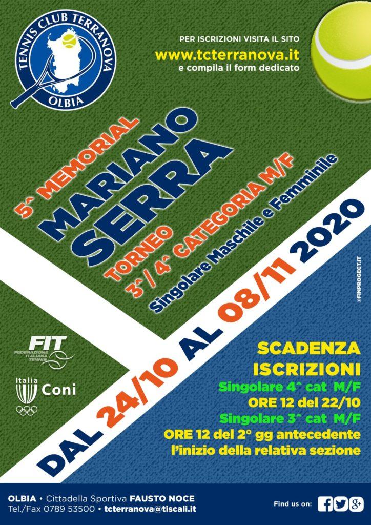 Torneo 3^ – 4^ Cat. M/F 5° Memorial Mariano Serra 2020