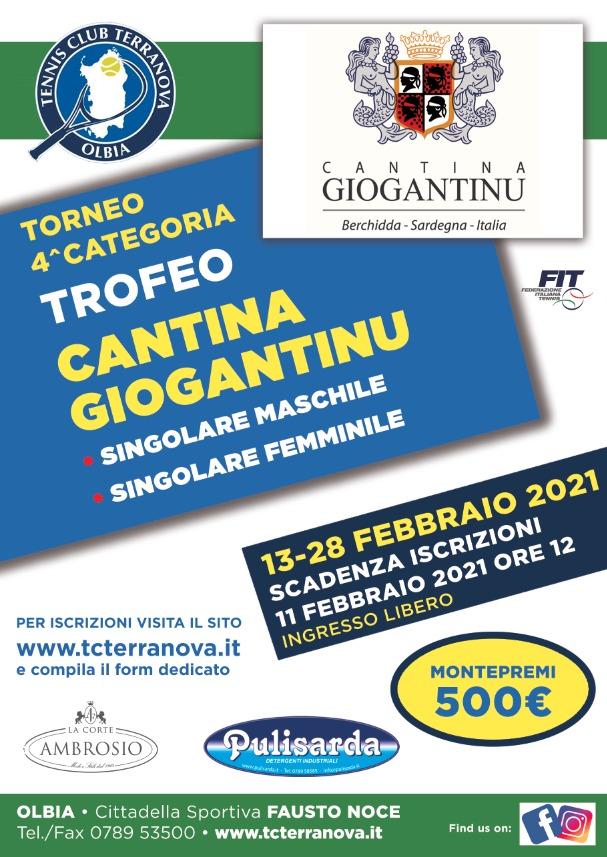 Torneo 4^ cat M/F Cantina Giogantinu 2021