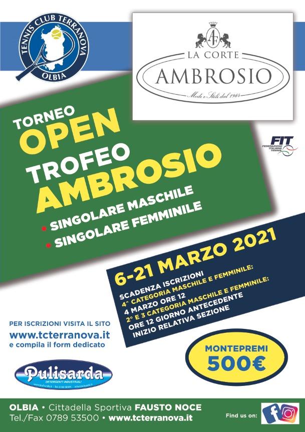 Torneo Open cat M/F Ambrosio 2021