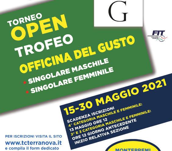 Torneo Open cat M/F Officina del Gusto 2021